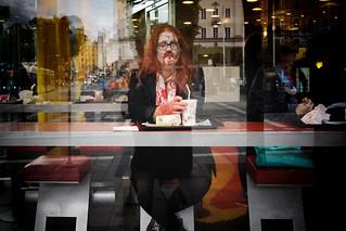 Stockholm, Zombie Actually Eats Burger, Not Brain