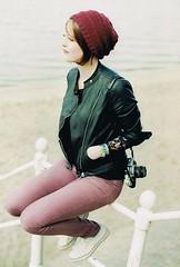 long time no see (so.sophia) Tags: red fence germany myself seaside pants north northshore dangast