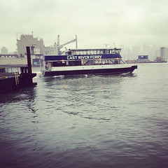 image (JuhaOnTheRoad) Tags: usa newyork fog ferry brooklyn river boat transportation eastriver williamsburg iphone eastriverferry