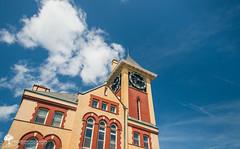 New Bern City Hall (Zach Frailey) Tags: clouds nc spring cityhall clocktower bern polarizer cpl fluffyclouds newbern coastalliving coastalnc visitnc