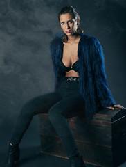 Trini (Pablo Rogat) Tags: chile portrait woman white girl beautiful beauty female skinny person model rockstar smoke bra young attractive seduction seductive tough attraction caucasian