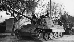 King Tiger tanks from the 503rd Heavy Tank Battalion in Gyongyos, Hungary, November 1944