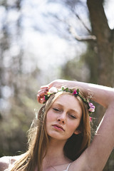 (courtneymichaud) Tags: flowers floral girl beautiful beauty fashion forest model bokeh redhead freckles boathouse boho redhair bohemian flowercrown floralcrown