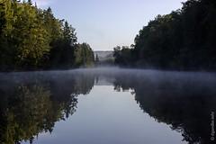 Schweden - frühmorgendlicher Nebel