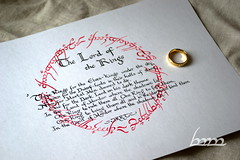 Rings of Power poem (One Ring to rule Them all) (mechkivskiy_art) Tags: jrrt tolkien lotr lordoftherings ring onering poem calligraphy middleearth mechkivskiy manuscriptardalibraryproject manuscriptardalibrary thelordoftherings tengwar blackspeech quenya