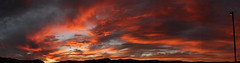 Sunset 10 6 16 #25 Panorama e (Az Skies Photography) Tags: october 6 2016 october62016 10616 1062016 sky skyline skyscape rio rico arizona az rioricoaz riorico arizonasky arizonaskyline arizonaskyscape cloud clouds red orange yellow gold golden salmon black canon eos rebel t2i canoneosrebelt2i eosrebelt2i sun set sunset dusk twilight nightfall arizonasunset panorama