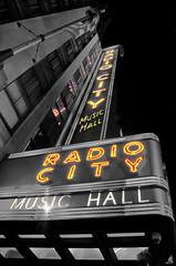 Radio City (Alessandro Giorgi Art Photography) Tags: radio city music hall città sala musica newyork new york selective color colore selettivo lights luci neon insegna luminosa banner bright brightening brillant usa america unitedstates manhattan american nikon d7000 urban street nightview nightscape