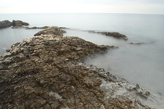 Fade (julia.schobersberger) Tags: fade sea croatia stones canon 700d canon700d cold water coldwater fog fogsea