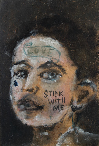 Sam Jackson 'Stick With Me', 2016 Oil on board 15x10cm