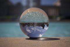 Legion in a Ball (annelaurem) Tags: america ball blue california fountain palace reflection sanfrancisco sky upsidedown usa water