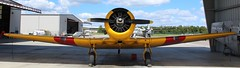 North American AT-6 Texan (jmaxtours) Tags: northamericanaviation at6 at6texan harvard yellow kissimmeeairmuseum navy warbirdadventures texan