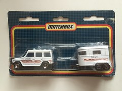 Matchbox 1-75 Twin Pack - Mercedes Benz G-Wagon And Horse Box - Polizei / German Police - Miniature Die Cast Metal Scale Model Emergency Services Vehicle (firehouse.ie) Tags: cops policija politi polis polizia coches coche germany german polizei horse horsebox trailer 4x4 wagon g benz mercedes cars car police pack twin mb175 toys toy matchbox