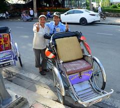 Pedicab Drivers (Neil Noland) Tags: vietnam hue citadel