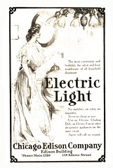USA advertisements: (painting in light) Tags: 1907 usa chicago ad advert advertisement sell selling illustration vintage electric light chicagoedisoncompany edison