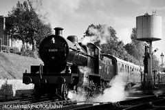 Departing 7F (Jack Haynes Photography) Tags: swanage railway autumn steam gala 2016 dorset purbeck locomotive heritage 53809
