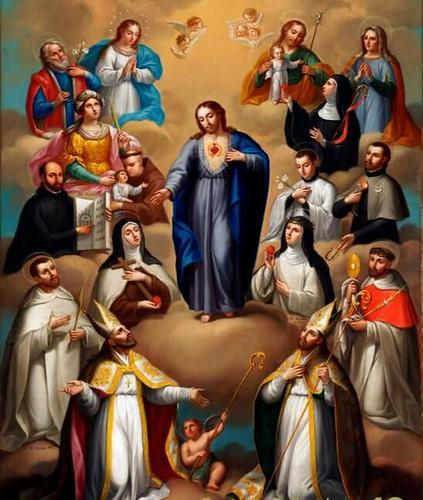 El Sagrado Corazón de Jesús alabado por los Santos, Fundación Cultural BANAMEX, Cdad. de México, CDMX.