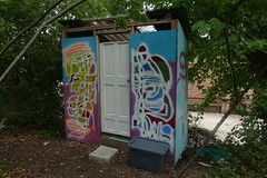 compost toilet (nicknormal) Tags: longislandcity queens smilinghogsheadranch compost toilet