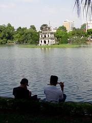 Flute by the lake (program monkey) Tags: vietnam hanoi oldquarter hoankiem lake flute