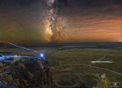 Alone Atop Lone Rock (PdXBenedetti) Tags: astrophotography milkyway stars nightscape astroscape astronomy nikon sigma longexposure nightsky landscape nature