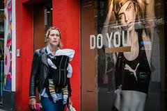 DO YOU (jonron239) Tags: london carnabystreet widow advertising caradelvingne woman girl blonde mother baby leatherjacket