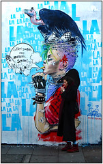 Lighting Up (donbyatt) Tags: eastlondon streetart cans urban walls graffiti candid cigarettes lorazombie
