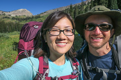 Happy Honeymooners (GlobalGoebel) Tags: grand teton national park canon powershot g9x wyoming backcountry hiking camping tetoncresttrail