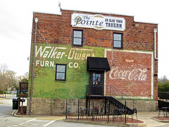 Walker-Owens Furniture Co., Conyers, GA (Robby Virus) Tags: conyers georgia walkerowens furniture co company cocacola ghost sign signage ad advertisement faded brock wall pointe tavern bar pub railroad street