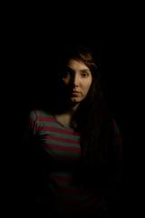 Adriana en clave baja (javierinsitu) Tags: clave baja adriana low key retrato dark darktable people nikon 35mm