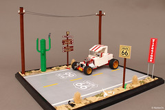 """Route 66 and Ford """"T"""" Roadster"""