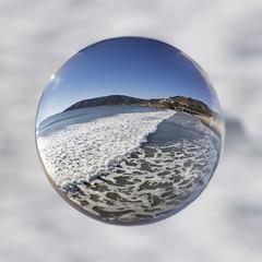 Avila Beach Waves in a Crystal Ball (grandmasandy+chuck) Tags: avilabeach waves crystalball refractionphotography water beach