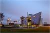 Titanic Building, Belfast (EoinGardiner) Tags: titanic museum belfast ireland northernireland titanicquarter quarter blue hour ship shipyard evening harland wolff crane cranes olympic