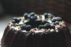 Chocolate milk stout cake (Alexandra E Rust) Tags: canon 700d t5i 50mm naturallight sooc food foodphotography foodstyling baking bake baker chocolate cake milk stout berries blueberries mulberries fresh harvest garden kitchen