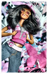 A-Z Challenge: U - urban streetwear (GreenWorldMiniatures) Tags: barbie fashionfever tia pinkpassport madetomove orangetop