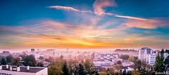 Le brouillard (nobock_fr) Tags: art bordeaux couleurchaude levdesoleil panoramique photo levdesoleil