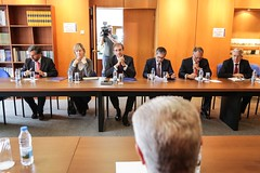 Pedro Passos Coelho em reunião com a CIP