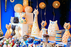 cute kitty lamp (sirenajing) Tags: christmasmarket festival christmas holiday celebration outdoors handicrafts arts cuties lovely beige cream black pink blue lights orange gift ideas gifts presents sweet decoration home decor editorial canon 50mm f18