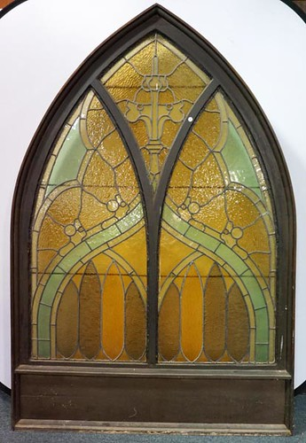 Cathedral Stain Glass Arched Window ($246.40)