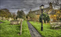 Lyddington Churchyard, Rutland (Darwinsgift) Tags: lyddington church churchyard graveyard rutland rutlandshire architecture village lampost nikkor pc pce 24mm f35 d ed mf nikon d810 hdr