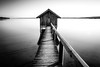 The Shed [in explore] (flamelab.de) Tags: alps ammersee base bavaria blackandwhite boathouse germany house lake landscape red reflection scene shed stegen