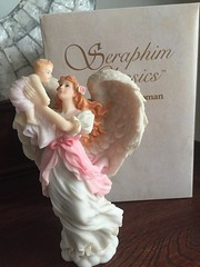 Seraphim Classics by Roman (Pointe Shoes Punk Rock And Purl Pix) Tags: seraphim angel roman resinstone figurine collectible spiritual baby infant joy retired inspirational motherslove devotion mib gaylord ho