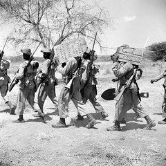 #Nigerian soldiers of the West African Frontier Force remove monumental stones placed by the Italians to mark the boundary of their new empire on the Kenya-Italian Somaliland border 1941 [798800] #history #retro #vintage #dh #HistoryPorn http://ift.tt/2f (Histolines) Tags: histolines history timeline retro vinatage nigerian soldiers west african frontier force remove monumental stones placed by italians mark boundary their new empire kenyaitalian somaliland border 1941 798800 vintage dh historyporn httpifttt2frlccf