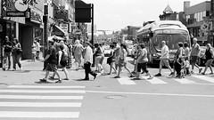 The Tourist Walk (TnOlyShooter) Tags: streetphotography nashville tennessee tourist crosswalk walking olympusom1 olympusomzuiko50mmf18 kodaktrix400 findlab film analog