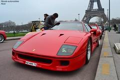 Ferrari F40 (Monde-Auto Passion Photos) Tags: auto automobile ferrari f40 rouge coup ancienne supercar sportive france rally paris evenement