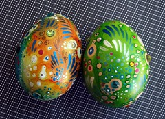 Hand Painted Eggs (MandarinMoon) Tags: rainbow colorful eastereggs paintedeggs chickeneggs dyedeggs