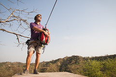Starting Out (angad84) Tags: trees india foothills mountains nature sport canon flying lodge line resort adventure retreat fox activity punjab zipline spa zip himalayas kikar 50d ropar tamronspaf1750mmf28xrdiiildasphericalif canoneos50d kikarlodge basali