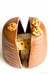 Danbos aren't born - they're hatched from Walnut Whips (Fairy_Nuff (new website - piczology.com!)) Tags: easter chocolate egg walnut whip hatchling danbo revoltech danboard