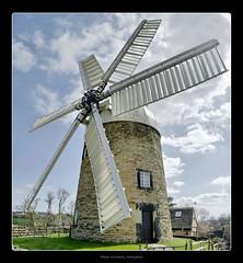 Heage Windmill (April 2012 #1) (Lazlo Woodbine) Tags: england heritage windmill spring stitch pentax britain derbyshire 1855 hdr 2012 industrialheritage k7 heage ambervalley heagewindmill
