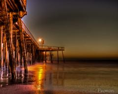 Pismo Beach Pier HDR (Paemon) Tags: ocean california longexposure usa beach america evening pier pentax pacificocean kr centralcoast pismobeach westcoast hdr paemon
