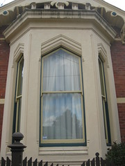 "Bay Window Detail of ""Clowance"", a Late Victorian Villa - Ballarat (raaen99) Tags: city windows brown house building brick home window leaves stone architecture facade fence garden painted name cement 19thcentury decoration australia victoria carving victoriana woodenfence villa historical residence housename nationaltrust roofline eaves gable ballarat goldrush picket 1893 redbrick parapet ornamentation nineteenthcentury picketfence 1890s 1892 sashwindow countryvictoria baywindow gardenfence domesticarchitecture victorianera heritagelisted newelpost clowance gingerbreading goldrushera brickandstone renderedbrick cementrender provincialvictoria boomstyle battlementedparapet architecturallydesigned boomstylearchitecture hippedgable clowancehouse isaiahpearce wegribble"