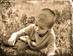 Play is a necessity. (Treesha Duncan) Tags: boy sepia texas play little sony ryder sanangelo necessity a550